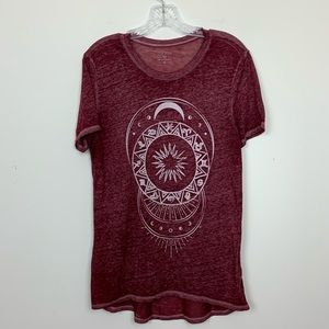 Zoe + Liv Burnout Sun and Moon Graphic Tee